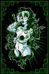 Sugar Skull Girl - Ivy by hooksnfangs