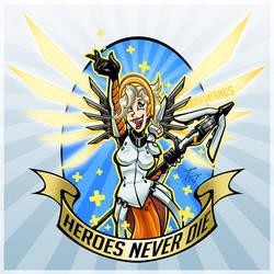 Mercy - Heroes Never Die by hooksnfangs