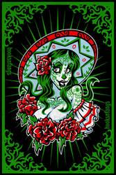 Sugar Skull Girl - Gloria by hooksnfangs