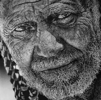 Iraq man pencil portrait by TrentRedmon