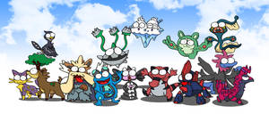isshu pokemons BEAST by c4tman