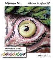 Ballpoint pen Parrot's eye by ArtisAllan