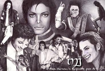 Michael Jackson with a Biro by ArtisAllan