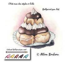 Ballpoint pen Art - Religieuse by ArtisAllan