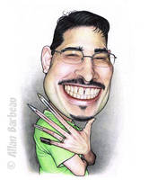 Myself caricatured by ArtisAllan