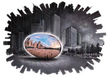 Ballpoint pen Art - The egg by ArtisAllan