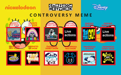 My Nick, CN and Disney Controversy Meme by PinkYazFlyChan