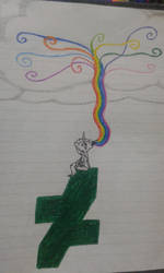 The rainbow of the pencil to the sky by YazFlyChan247