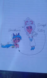 Angel Kitty and Unishine by YazFlyChan247