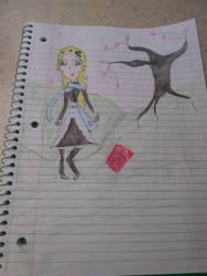 Art Trade with Koumi-Senpai by RavenSongBird