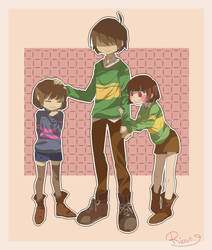 [Undertale/Deltarune] Trio KFC. by RyuuseiRissu