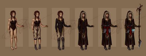 Euphian attire lineup by Elby-manga-addicted