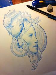 Khaleesi tattoo sketch by Greg0s