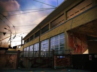 Urban Scene: Abandoned Factory by ElaineG
