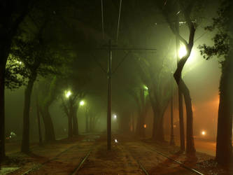 Foggy Tracks II by jensaarai