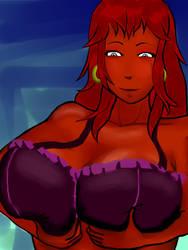 Dark Skin Girl underwear by LoneWolf119