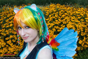 Rainbow Flower Dash by pixiekitty