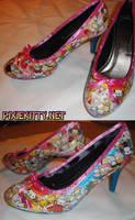 Nyan Nyan Cat Shoes by pixiekitty