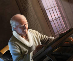 AGOT:Maester Luwin by Thaldir