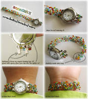 Crocheted Beaded Wire Strap by aneesah