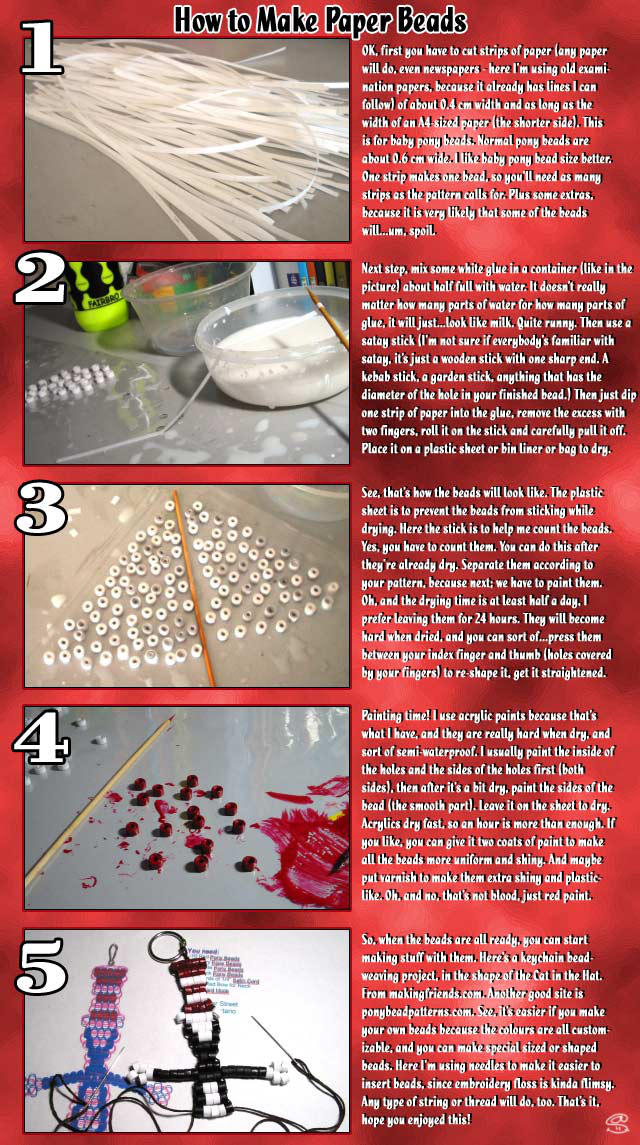 How to Make Paper Beads by aneesah
