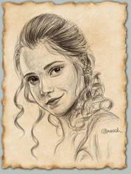 Portrait of Emma Watson by aneesah