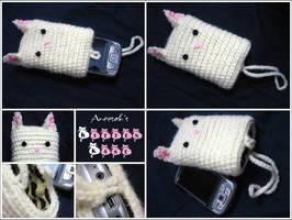 Krocheted Kitten Kase by aneesah