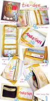 Tie-dye wallet by aneesah