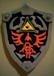 Legend of zelda Links shield by elenhpaine
