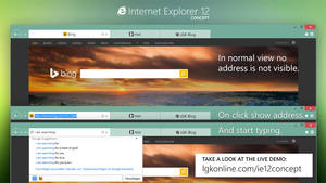Internet Explorer 12 Concept: New address control by lgkonline