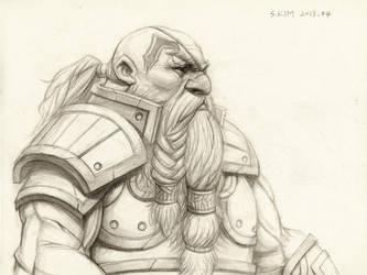 Dwarf Warrior by Kimsuyeong81
