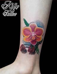 Realistc Orchid Tattoo by EdilsonR74