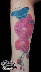 Orchid Tattoo by EdilsonR74