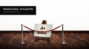 Weekly freebie - Art Easel PSD by ThemeFuse
