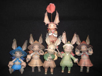 The Paper Moogle Family by fezco