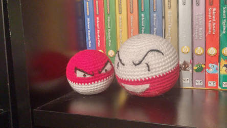 Voltorb and Electrode Amigurumi by Wykked-As-Syn