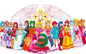Nintendo Princesses by FireFiriel