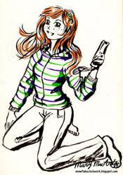 Vivian James doodle by FireFiriel