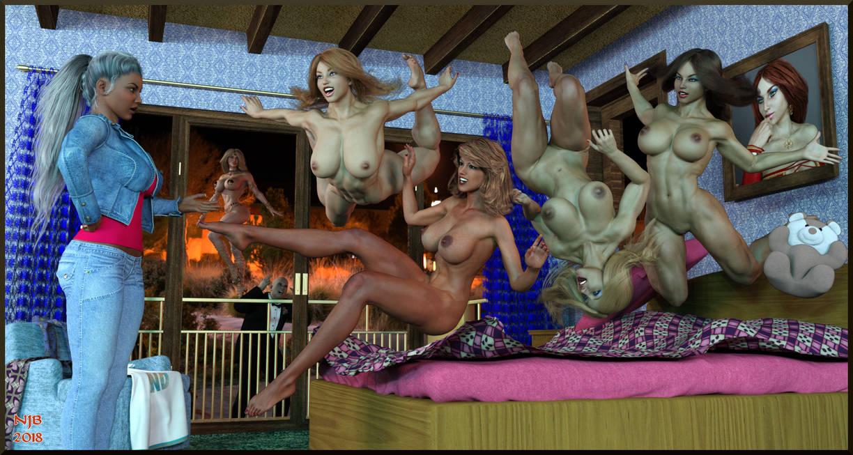 The Ashe Girls Celebratory Pajama (?) Party by Nathanomir