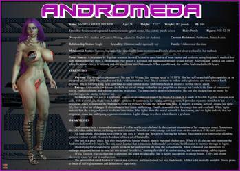 Andromeda Character Card by Nathanomir