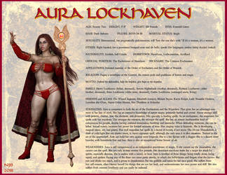 Aura Lockhaven Character Card 2018 by Nathanomir
