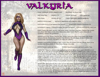 Valkyria Character Card 2018 by Nathanomir