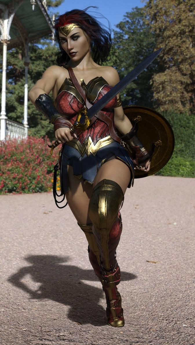 Wonder Woman WIP by Nathanomir