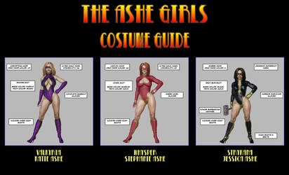 Ashe Girls Costume Guide by Nathanomir