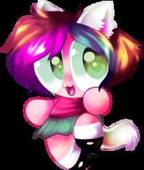 Utsi Catgirlwith short hair by CakeAndIceCreamPdn