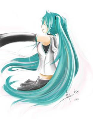 Sing for you - Hatsune Miku by Skecchu