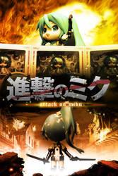 Attack on Miku - Shingeki no Miku by Skecchu