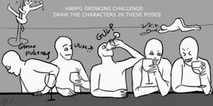 DRAW THE DRUNK SQUAD CHALLENGE: HARPG EDITION by DarkAngelLoveNight