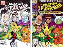 Spider-Man Sketch Cover recreation #366 by calslayton