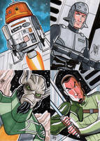 Star Wars Rebels Sketch Cards by calslayton